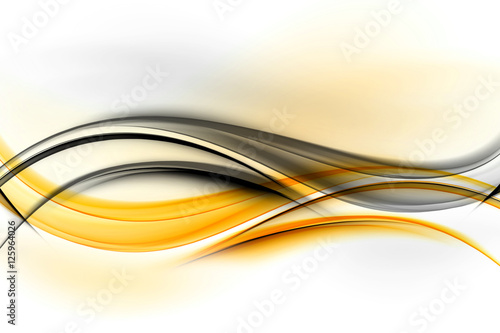 Abstract background powerful effect lighting. Yellow blurred color waves design. Glowing template for your creative graphics.