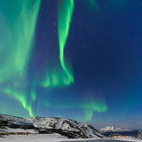 The polar lights in Norway,Tromso ,Ersfjord
