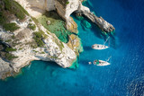 Sailboats in a beautiful bay, Paxos island, Greece - 125968824