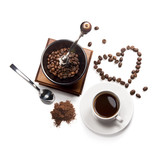 coffee attributes on a white background - 125975040