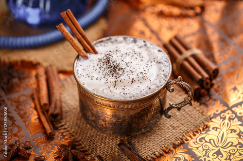 Chai latte spiced black tea