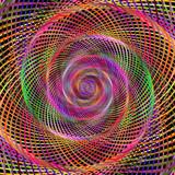 Multicolored hypnotic spiral fractal background - 125983416