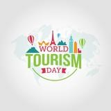 World Tourism Day vector illustration.