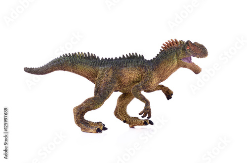 Poster  tyrannosaurus on white background