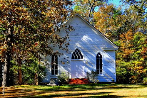 Poster Farriington, North Carolina - November 5, 2016:  Circa 1900 O'Kelly Chapel Chris