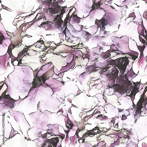 seamless pattern with abstract floral shape. Texture - 125998808