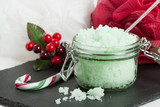 Handmade Mint Scrub With Coconut Oil. Toiletries, Spa Set.