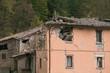 Casa nel centro storico di Pieve Torina distrutta dal terremoto che ha colpito l'Italia centrale