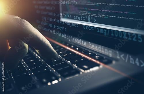 Web Development Work Concept
