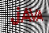java in the form of scoreboard 3D illustration
