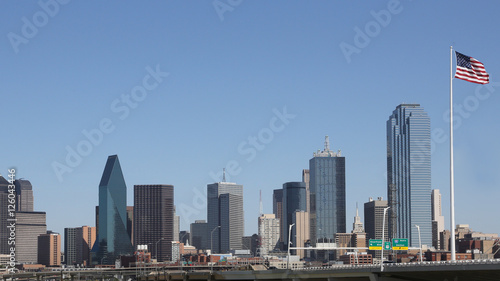 Foto op Canvas Texas Downtown Dallas skyline