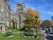 college campus with gothic architecture in fall