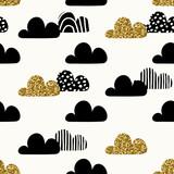 Seamless Clouds Pattern - 126082229