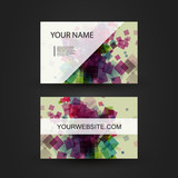 Business Card with Colorful Abstract Pattern