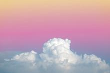 abstrait nuage ciel mou avec gradient de couleur pastel millésime pour toile de fond l'utilisation de fond