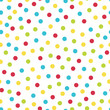 Cotton fabric Colorful dots seamless pattern