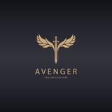 Avenger logo. Angel Sword