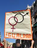 Manifestación por los derechos de la mujer