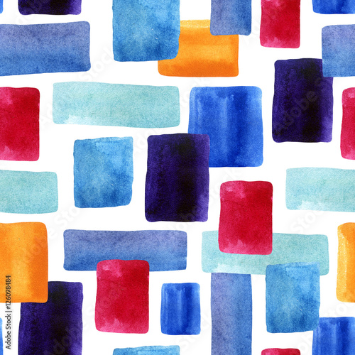Watercolor rectangles with paper texture bacground. - 126098484