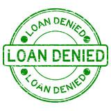 Grunge green loan denied rubber stamp