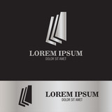 book abstract logo