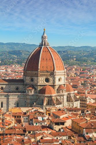 Papiers peints Orange eclat Panorama of the Florence city and the Cathedral Santa Maria del