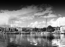 Trondheim jetée en noir et blanc