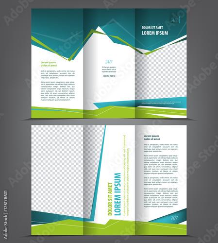 vector tri fold brochure template design concept business trifold
