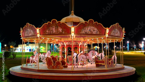 Fotobehang Amusementspark メリーゴーランド