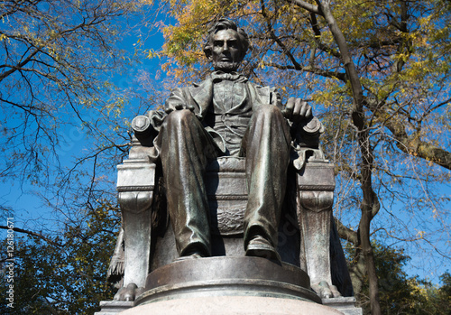 Poster Abraham Lincoln statue