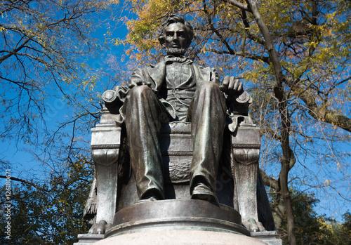 Abraham Lincoln statue плакат