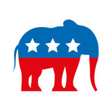republican party emblem isolated icon vector illustration design - 126185466