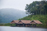 Houseboat in Mae Ngad dam. Chiangmai Thailand