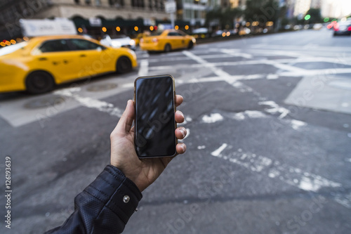 Papiers peints New York TAXI cab calling