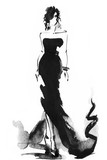 woman with elegant dress .abstract watercolor .fashion background - 126194675