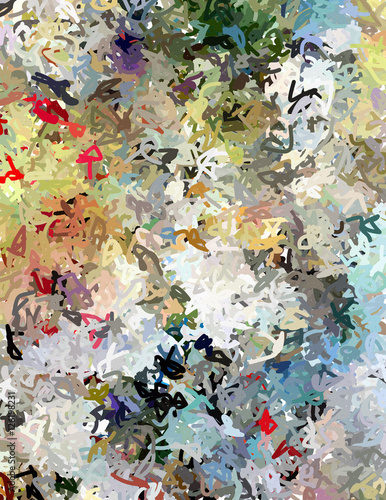 Fototapeta Fluid lines of color movement