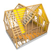 house frame and insulation