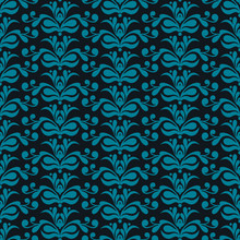 Vector Damask background, Pattern with Floral ornaments