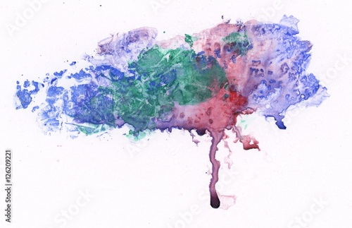 Abstract painted blob on white paper © alenchi