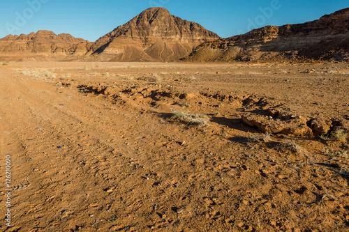 Poster  Wadi rum  landscape, desert  and mountains, Jordan