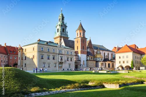 Zamek krakowski Wawel o zachodzie słońca
