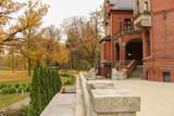 Wąsowo - staw i park pałacowy w jesiennej scenerii