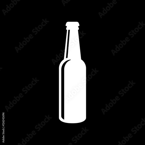 Bottle of beer icon Canvas
