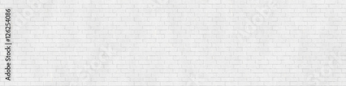 Background texture of white brick wall - 126254086