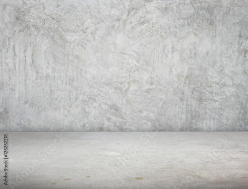 Empty Room perspective,grunge concrete wall and cement floor, Mo