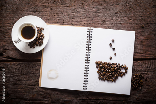Foto op Canvas Koffie Cup of coffee