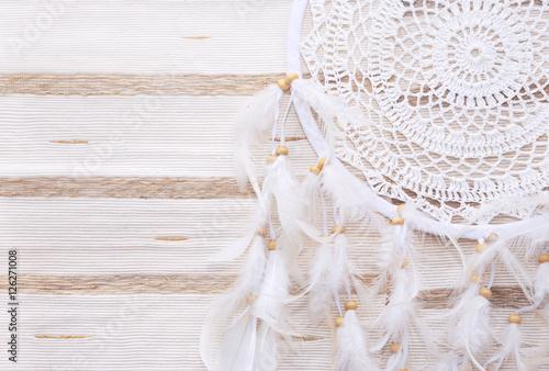 Plagát Dreamcatcher on a beige background