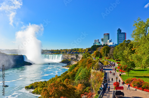 View of Niagara Falls in a sunny day  - 126278204