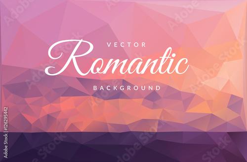 Aluminium Red romantic sunset on the sea vector background