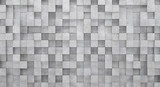 Wall of concrete cubes as wallpaper or background. 3D rendering - 126304842